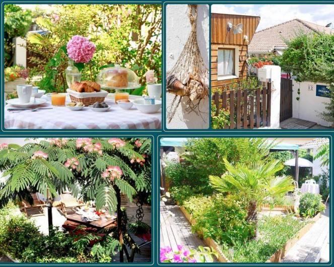 Location de vacances - Chambre d'hôtes à Mimizan - Le jardin
