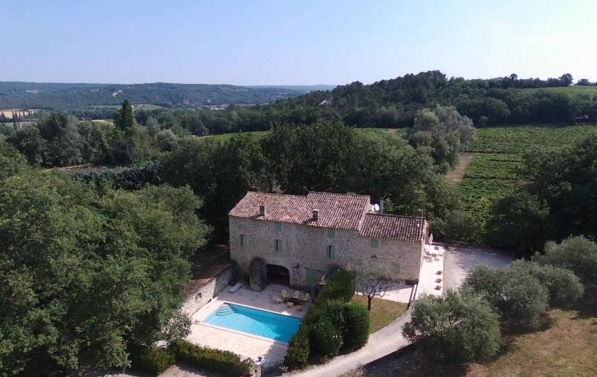 Location de vacances - Mas à Chantemerle-lès-Grignan - vue aérienne