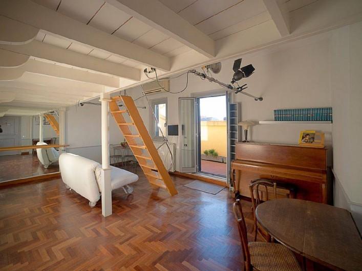 Location de vacances - Studio à Rione III Colonna - l'entrée dans l'appartement - salon