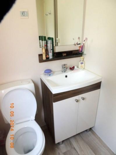 Location de vacances - Bungalow - Mobilhome à Fréjus - salle d'eau/ WC chambre parentale