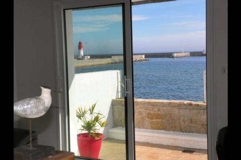 Location de vacances - Chambre d'hôtes à Guilvinec - Vue splendide sur mer du salon