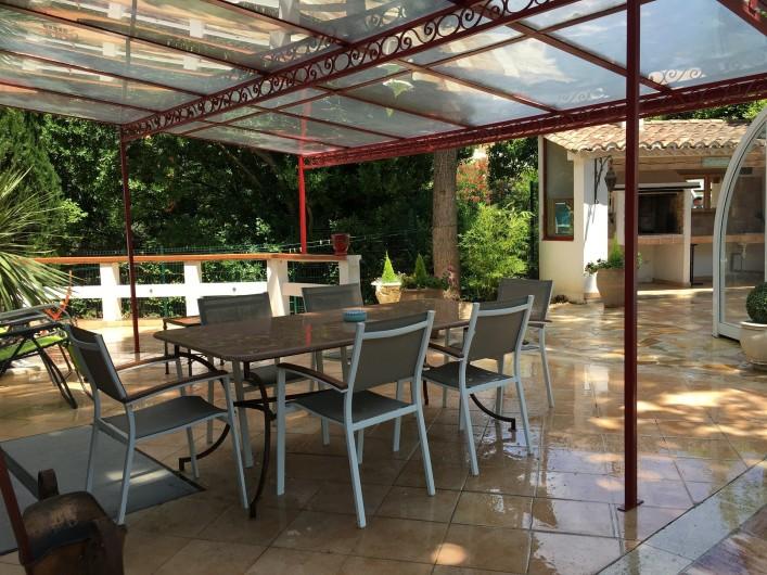 Location de vacances - Villa à Uzès - espace vie séjour