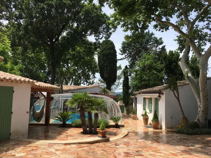 Location de vacances - Villa à Uzès - Piscine chauffée fermée en basse saison