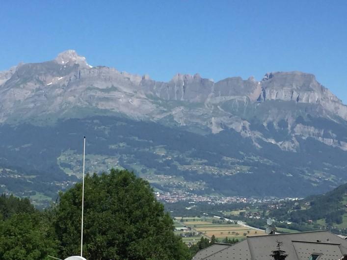 Location de vacances - Appartement à Saint-Gervais-les-Bains - Vue de la terrasse de 18 m2