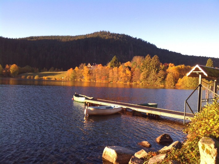 Location de vacances - Appartement à Gérardmer - lac de Gerardmer en automne