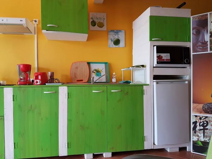 Location de vacances - Appartement à Baie Mahault - coin cuisine