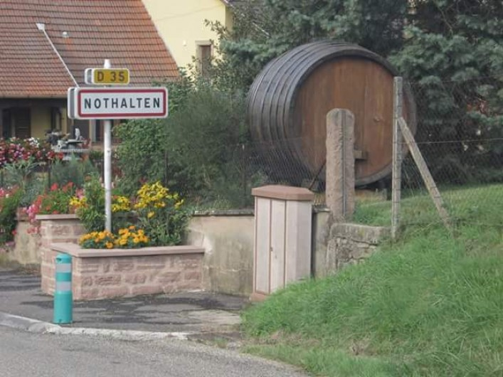 Location de vacances - Gîte à Nothalten - Entrée du village