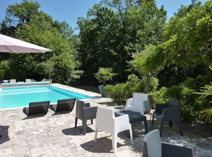 Location de vacances - Chambre d'hôtes à Olivet - La terrasse et la piscine...