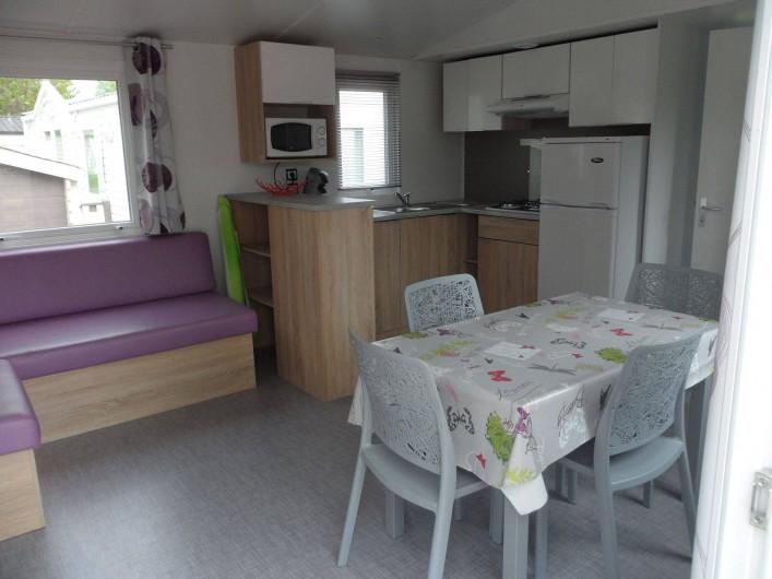 Location de vacances - Bungalow - Mobilhome à Berck - Mobil home à la location (intérieur)