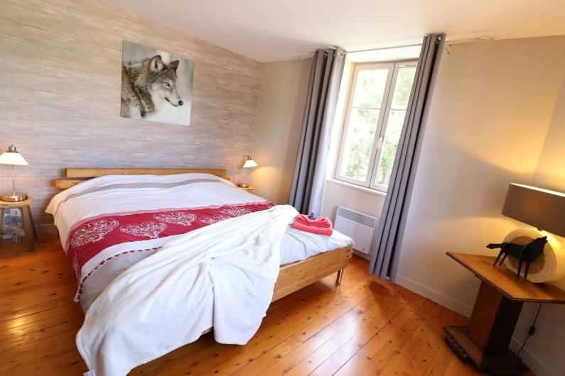 Location de vacances - Villa à Matignon - Chambre parentale au 1er étage. Lit 180X200 et dressing