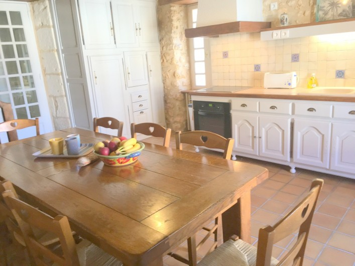Location de vacances - Villa à Saint-Martin-des-Combes - Vue arrière de la maison