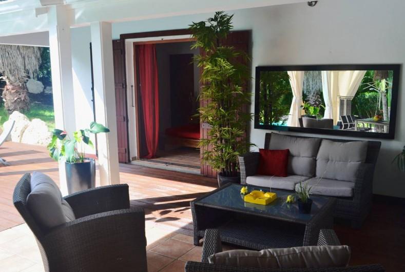 Location de vacances - Villa à Saint-François - Le salon extérieur