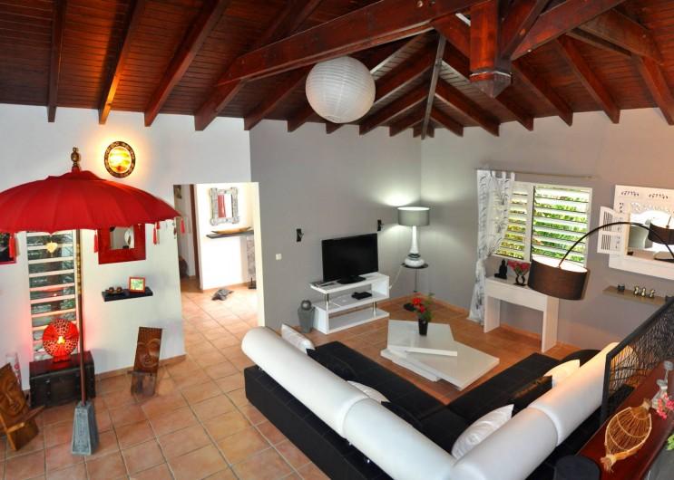 Location de vacances - Villa à Saint-François - Le salon intérieur