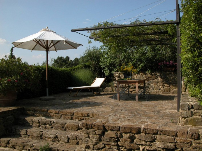 Location de vacances - Appartement à Greve in Chianti - Terrasse privée