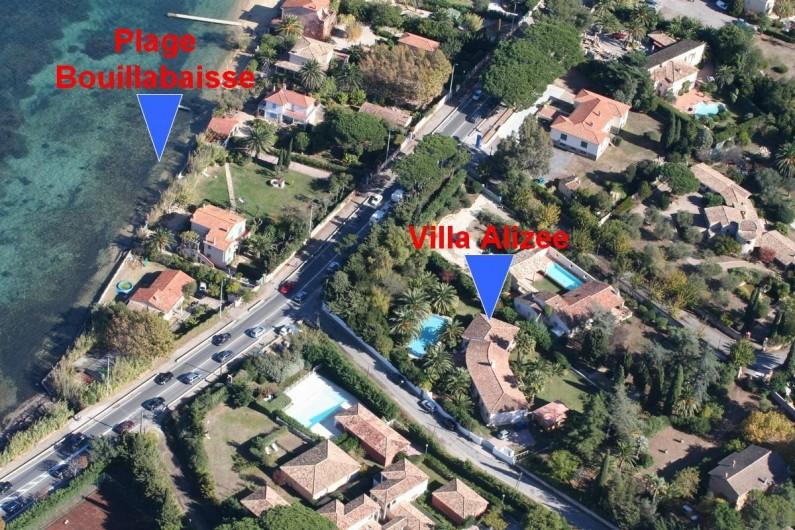 Location de vacances - Villa à Saint-Tropez - Situation