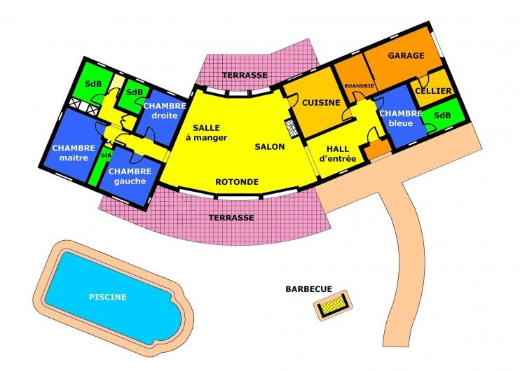 Location de vacances - Villa à Saint-Tropez - Plan
