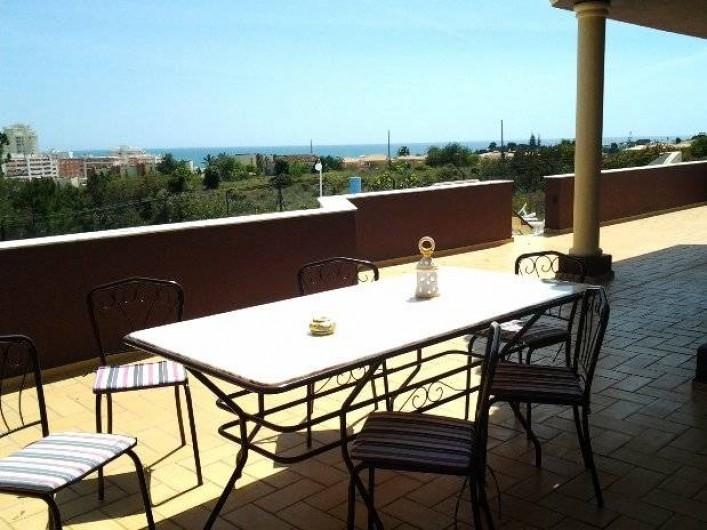 Location de vacances - Appartement à Armação de Pêra - Terrasse privée - vue océan
