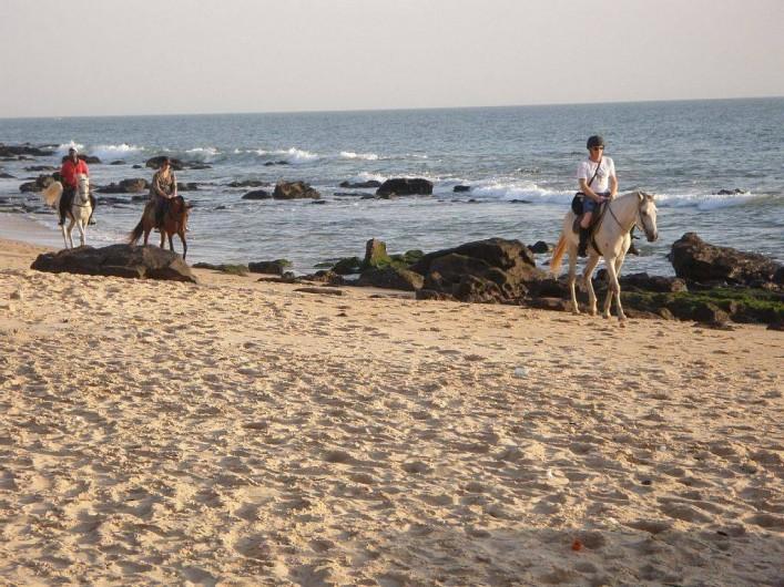 Location de vacances - Villa à Somone - La plage devant Africa 6.