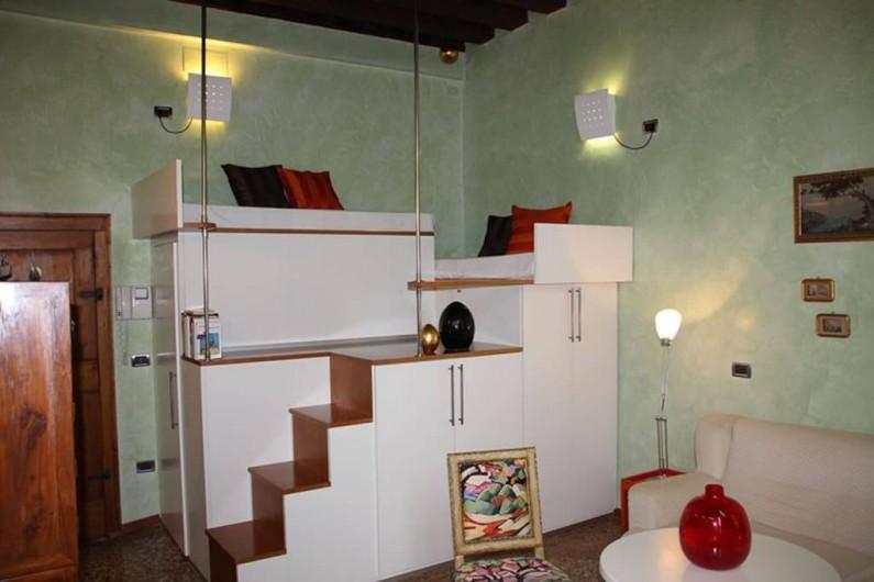 Location de vacances - Appartement à Venise - Sèjour avec mezzanine