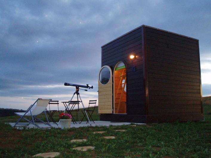 Location de vacances - Roulotte à La Chapelle-Blanche-Saint-Martin - Domaine de La Grangée, Carré d'étoiles, nuit à la belle étoile en Touraine