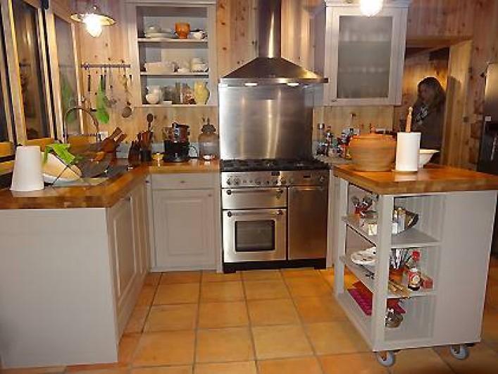 Location de vacances - Villa à Le Cap Ferret - Cuisine équipée piano, lave vaiselle intégré, plan  travail