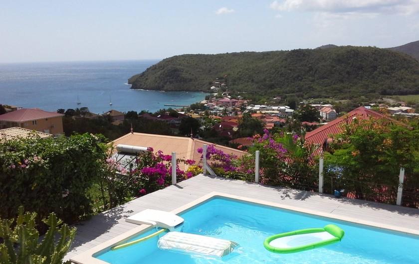 Location de vacances - Villa à Les Anses-d'Arlet - VUE SUR LE VILLAGE