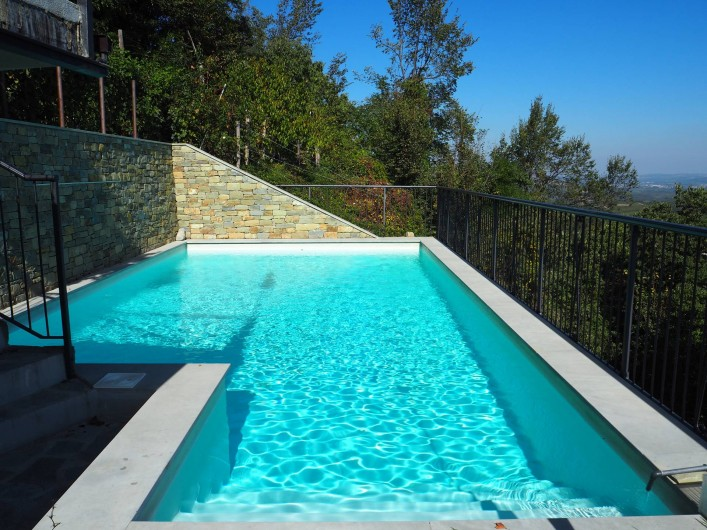Location de vacances - Appartement à Verduno - Pisicine
