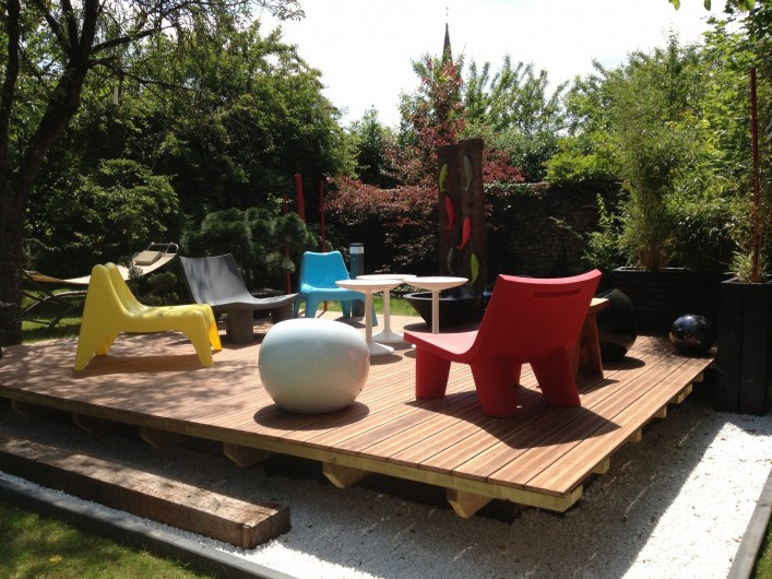 Location de vacances - Gîte à Saint-Loup-Lamairé - Terrasse Zen au Milieu du Parc