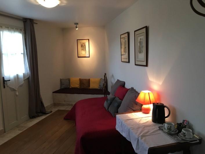 Location de vacances - Chambre d'hôtes à Grimault - Le petit salon attenant à  la Nucérienne