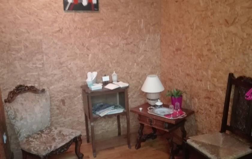 Location de vacances - Chambre d'hôtes à Fresse - Coin salon chambre n°1
