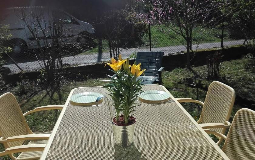 Location de vacances - Chambre d'hôtes à Fresse - Salon de jardin