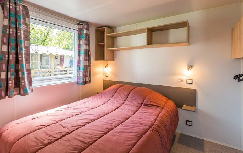 Location de vacances - Bungalow - Mobilhome à Thonon-les-Bains - Suite parentale avec lit double