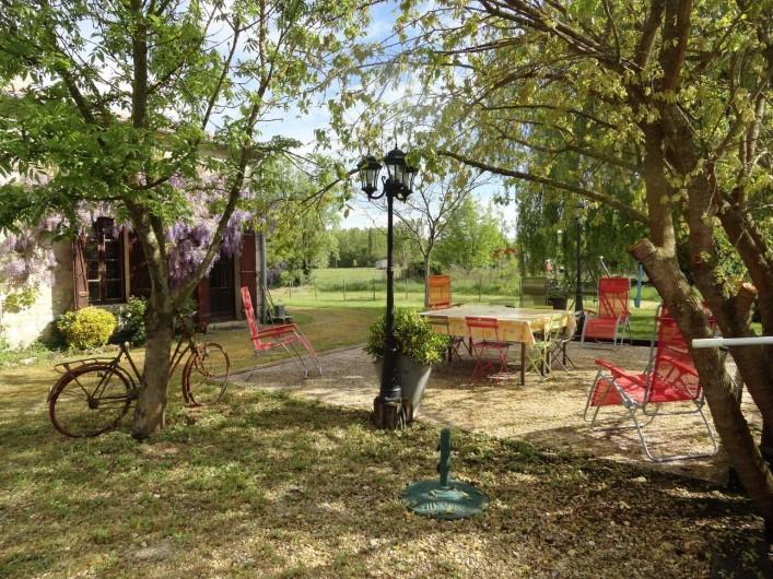 Location de vacances - Gîte à La Sauvetat-du-Dropt - La terrasse