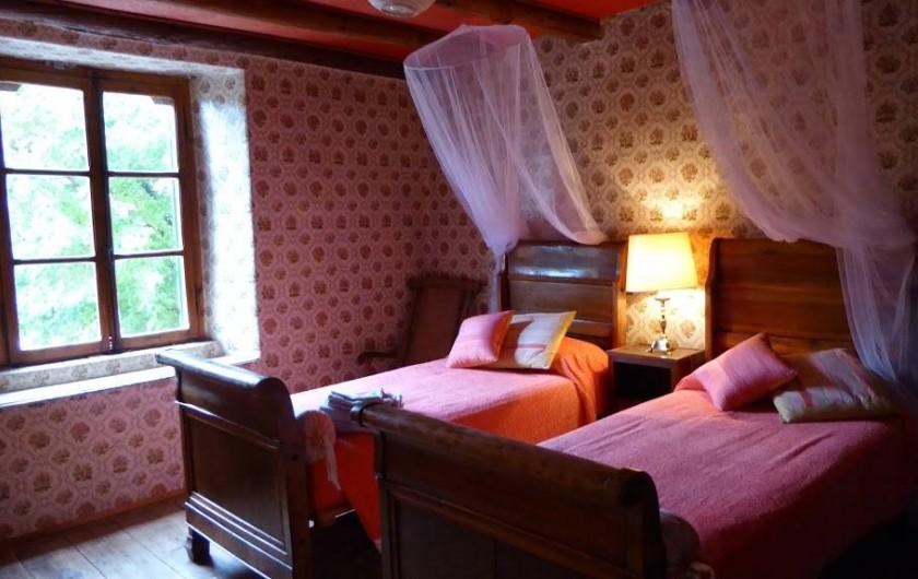 Location de vacances - Maison - Villa à Marano di Valpolicella - Chambre rouge du premier étage côté sud