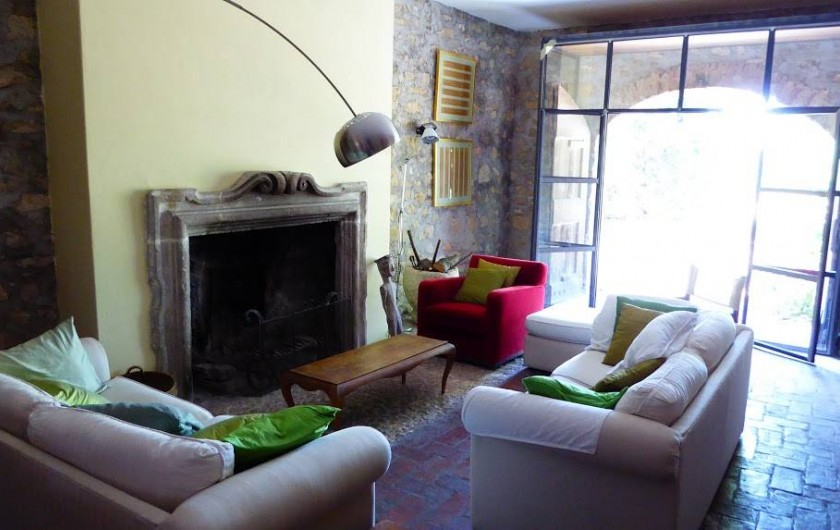 Location de vacances - Maison - Villa à Marano di Valpolicella - Fenile, grand salon qui donne sur la terrasse sud