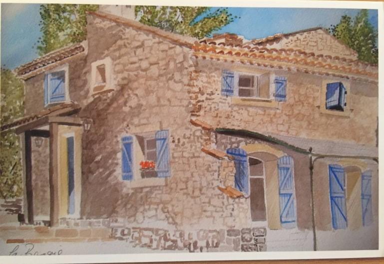 Location de vacances - Mas à Bagnols-en-Forêt - Peinture faite par un locataire!