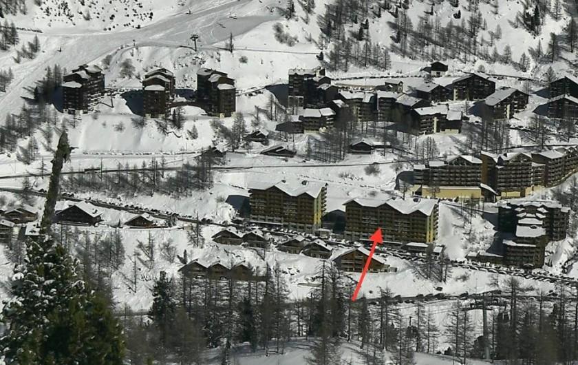 Location de vacances - Studio à Isola - Situation du bâtiment