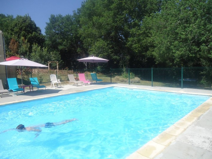 Location de vacances - Gîte à Marminiac - accès piscine clôturé
