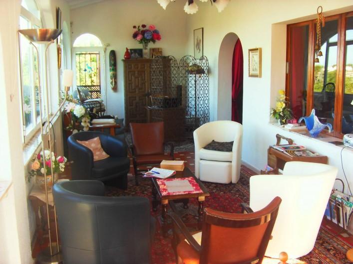 Location de vacances - Villa à Dénia - Salon  coté mer coin bureau WIFI