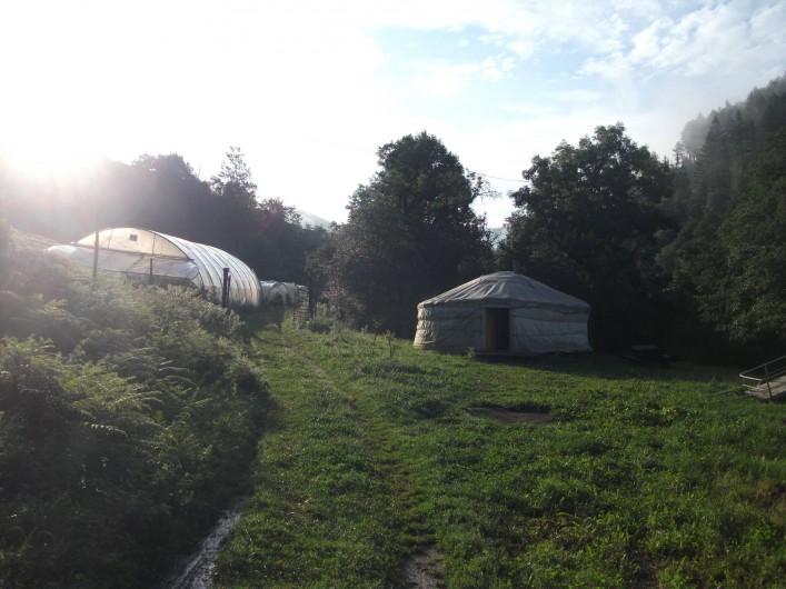 Location de vacances - Camping à Meyrueis - une de nos yourtes