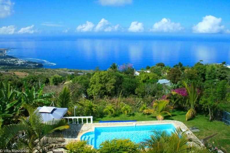 Location de vacances - Chambre d'hôtes à Saint-Leu - La vue depuis la terrasse du petit déjeuner
