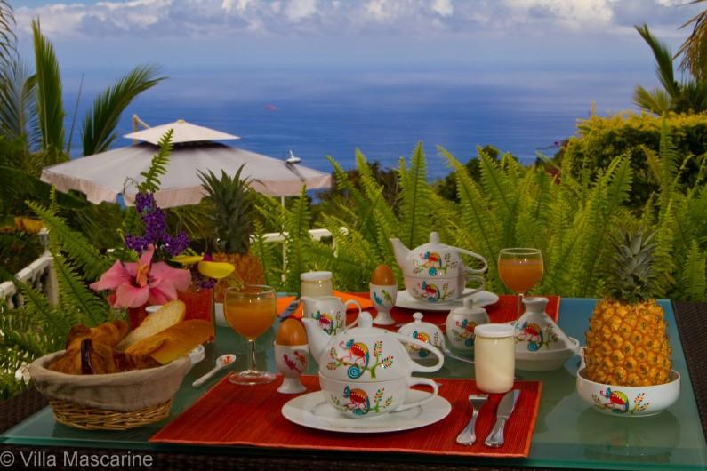 Location de vacances - Chambre d'hôtes à Saint-Leu - Petit déjeuner