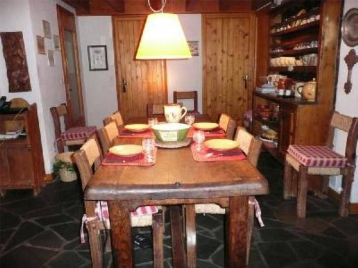 Location de vacances - Chalet à Saint-Gervais-les-Bains - Salle à manger