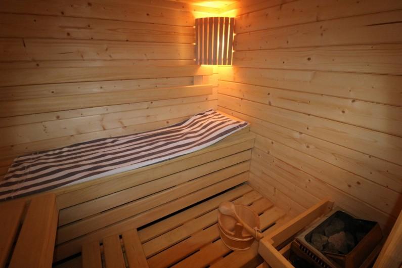Location de vacances - Appartement à Aix-les-Bains - la cabine sauna dans la salle de sport au rez de jardin