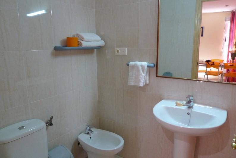 Location de vacances - Appartement à Oropesa del Mar - Salle de bain appt. 4/5