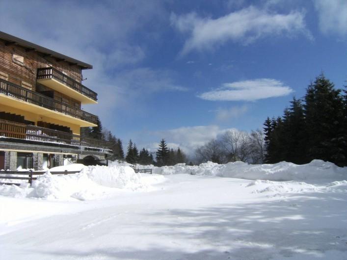 Location de vacances - Appartement à Orbey - Départs ski aux pieds vers les pistes de ski alpin et de fonds