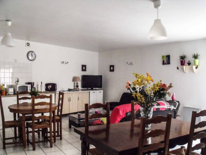 Location de vacances - Maison - Villa à Puisserguier - Pièce à vivre (41 m2)