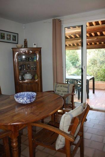 Location de vacances - Villa à Cucuron - Séjour, salle à manger