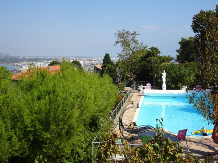 Location de vacances - Chambre d'hôtes à Sète - Vue de la terrasse de la chambre 4 clés