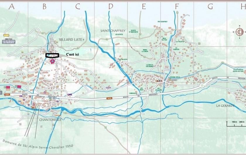 Location de vacances - Appartement à Saint-Chaffrey - Situation de la location sur le village de Villard Laté - Serre chevalier